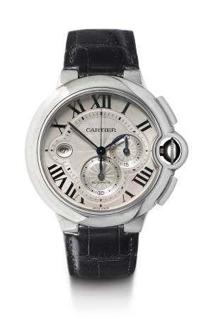 """Cartier, """"Ballon Bleu"""" Chronograph, ca. 2010."""