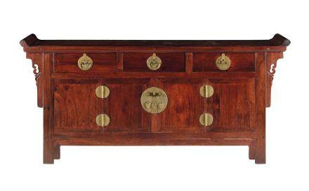 A large homu desk with drawers, China, 20th century