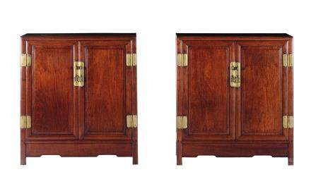 A pair of homu cabinets, China, Qing Dynasty, 19th century
