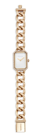 GOLD, MOTHER-OF-PEARL AND DIAMOND 'PREMIÈRE CHAÎNE' WRISTWATCH, CHANEL