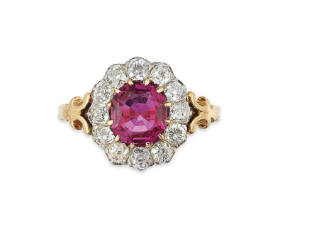 LATE 19TH CENTURY / EARLY 20TH CENTURY RUBY AND DIAMOND RING