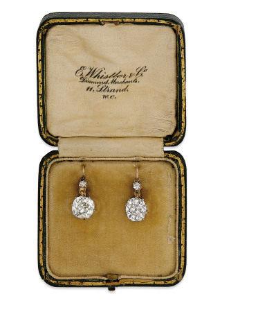 EARLY 20TH CENTURY DIAMOND EARRINGS