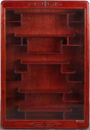 Chinese Wooden Wall Mounted Display Case