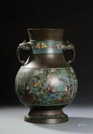 JAPANESE CLOISONNE ENAMEL JAR