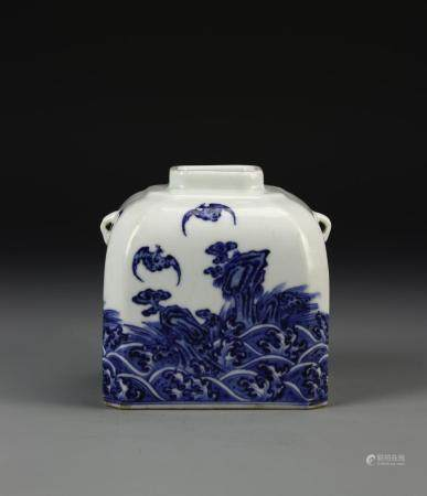 BLUE AND WHITE WATERPOT