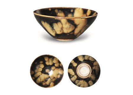 南宋吉州窑玳瑁釉茶盏