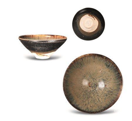 南宋吉州窑褐边窑变釉茶盏