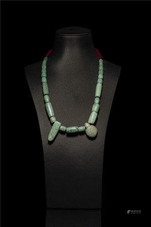 紅山文化天河石珠串