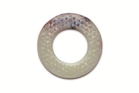 戰國晚期谷紋玉環