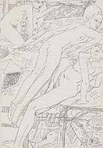 愛德華·弗蘭克(AD 1909-1972)鋼筆、紙本-20世紀