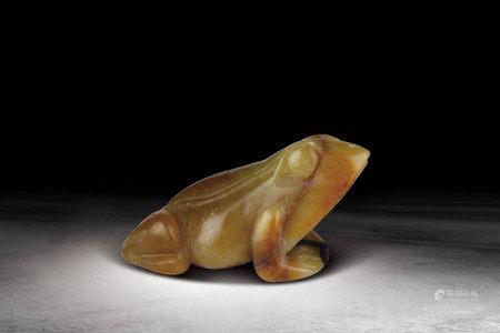 清  黄玉蛙挂件