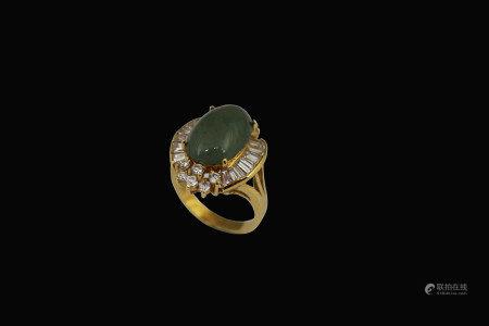 翡翠蛋面指環
