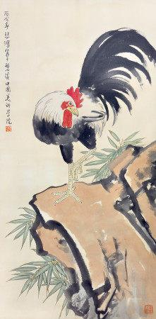 徐悲鴻  雄雞