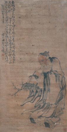 黃慎  採花仙翁