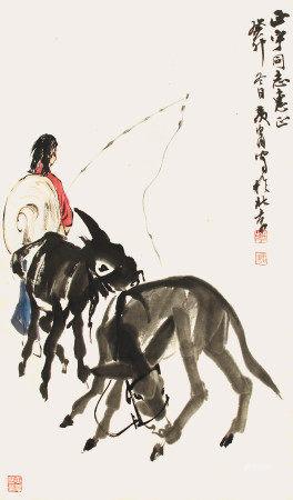 黃冑  牧驢