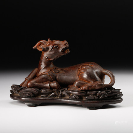 CHINESE CHENXIANG WOOD CARVED DEER