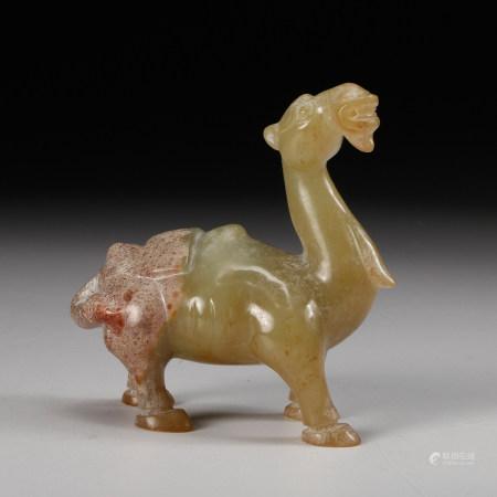 CHINESE CELADON JADE CAMEL