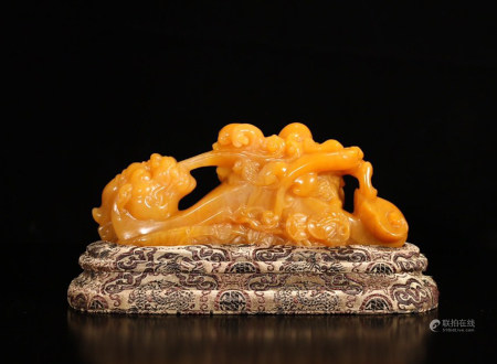 TIANHUANG SOAPSTONE CARVED DRAGON