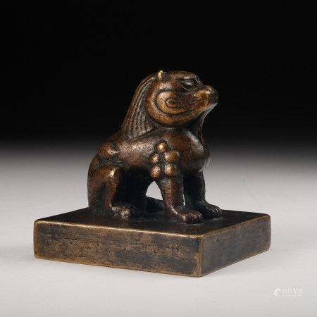 CHINESE BRONZE FOOLION SEAL