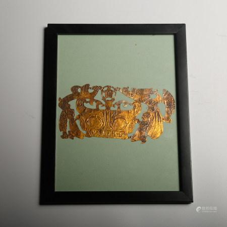 FRAMED GOLD SHEET OF BEAST MASK