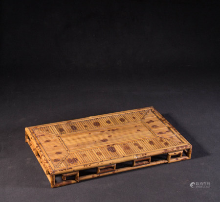 CHINESE BAMBOO CARVED TEA TRAY