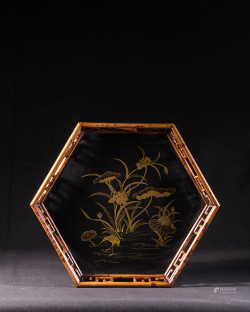 CHINESE BAMBOO TEA TRAY