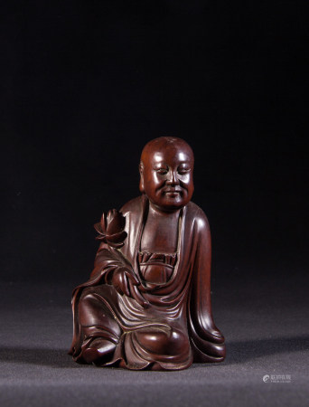 HUANGYANG WOOD CARVED BUDDHA, QING DYNASTY
