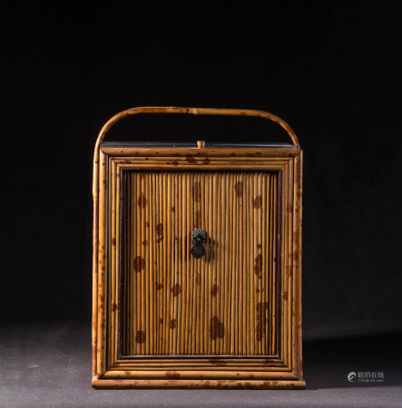 ROSEWOOD AND BAMBOO TEA CABINET