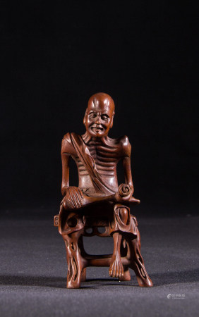 HUANGYANG WOOD CARVED LOHAN