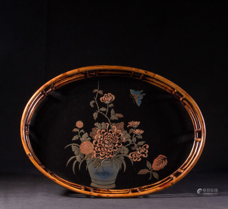 LACQUER WOOD TEA TRAY