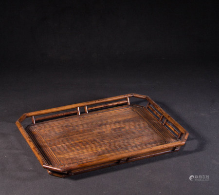 BAMBOO CARVED TEA TRAYS