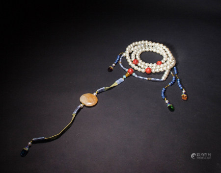 QING DYNASTY PEARL COURT BEADS NECKLACE