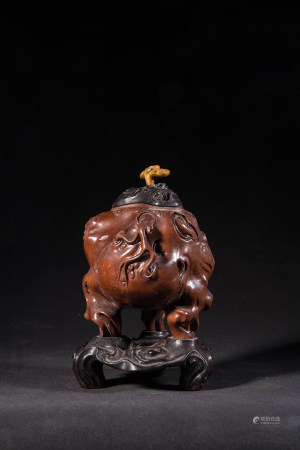 HUANGYANG WOOD CARVED CENSER