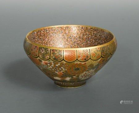 A Japanese earthenware bowl, Meiji Period (1868-1912),