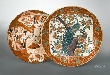 A Japanese Kutani circular dish, late Meiji Period (1868-1912),