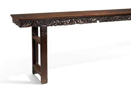 VERY LARGE ALTAR TABLE WITH APRON IN OPENWORK.