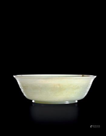 清乾隆 白玉饕餮龙纹洗