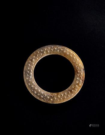 明 白玉谷纹环