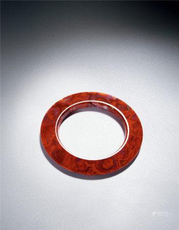 明 战国红玛瑙环