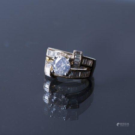 A FANCY DIAMOND RING, AIG CERTIFIED