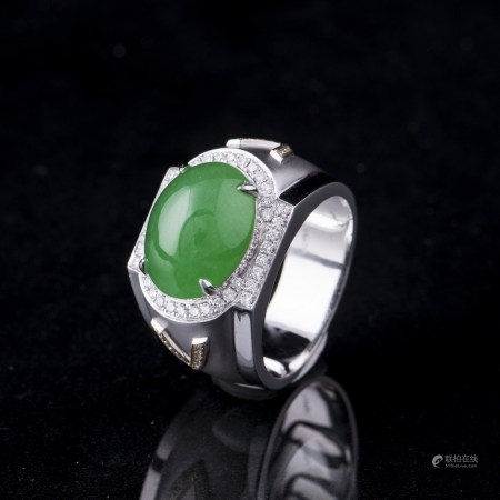 A JADEITE RING, GIA CERTIFIED