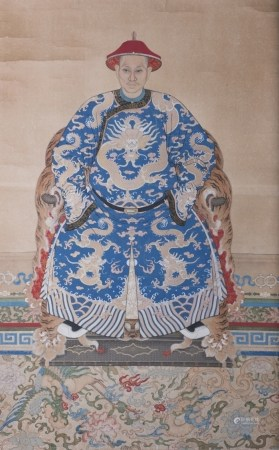 ANONYMOUS (QING DYNASTY), A PORTRAIT OF EMPEROR