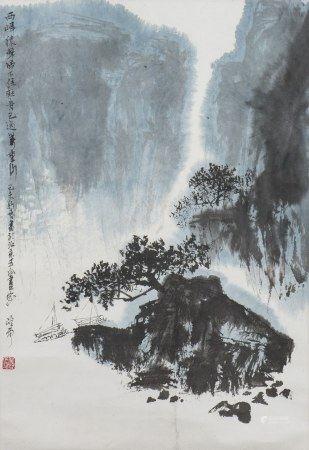 QING LINGYUN (1914-2008), LANDSCAPE