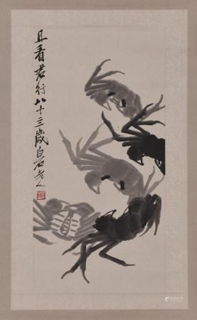 QI BAISHI (1864-1957), CRABS