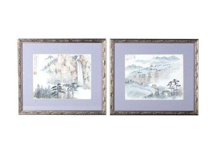 WANG WENSHAN (1929- ) / WANG SHANGYI (1905-1927) LANDSCAPE