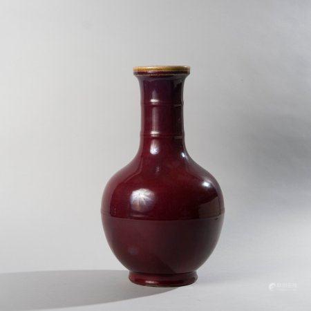 Vase baluster in porcelain enamelled with...