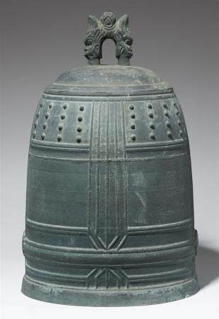 A bronze temple bell. Dated 1862