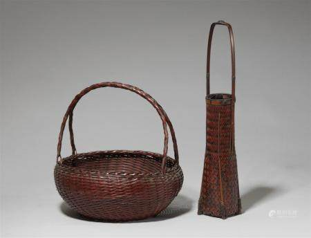 Two bamboo baskets. First half 20th century