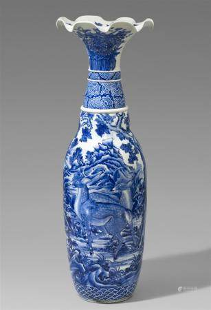 A very large Seto vase. Late 19th century