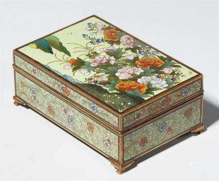 A cloisonné enamel cigarette box. Early 20th century